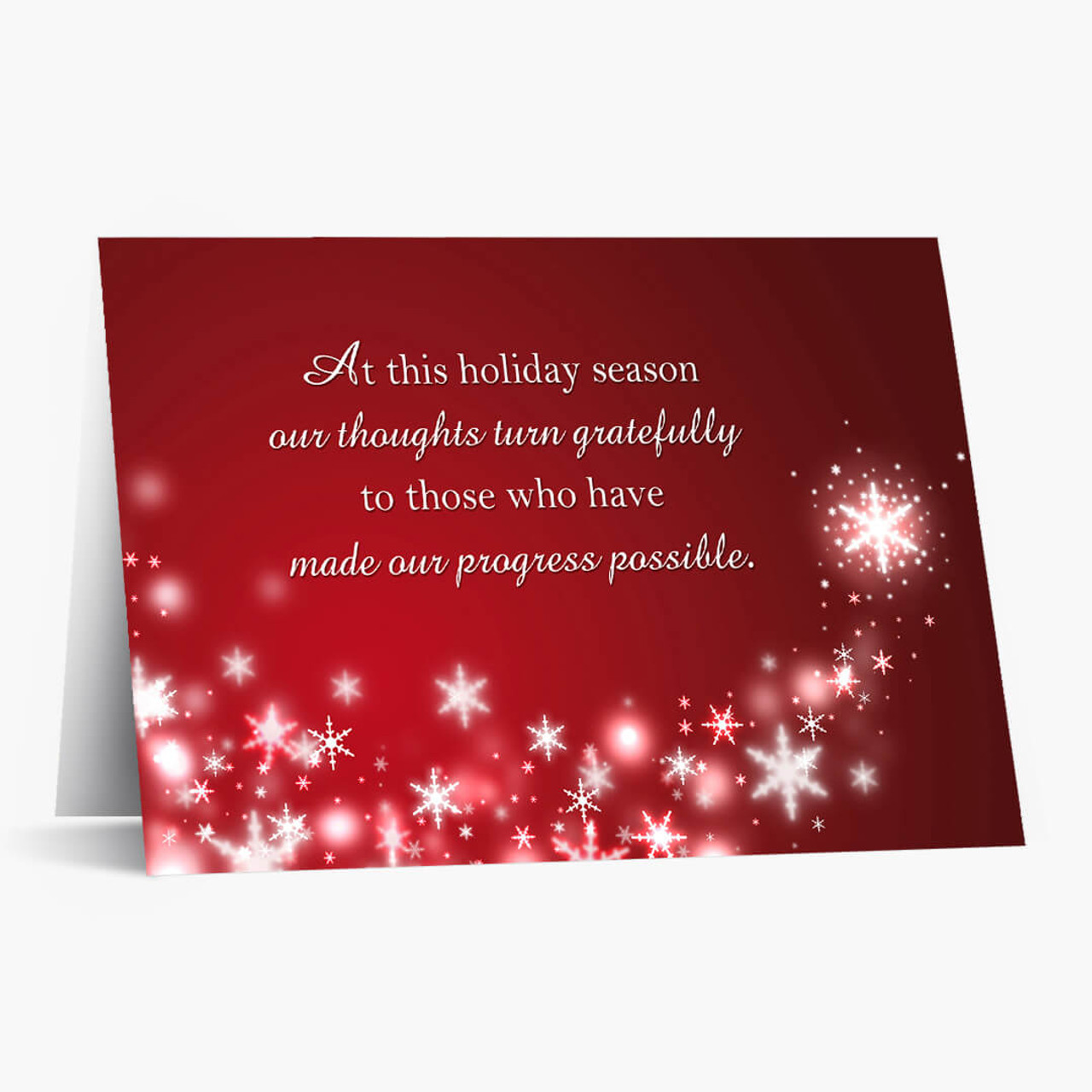 Grateful Business Christmas Card