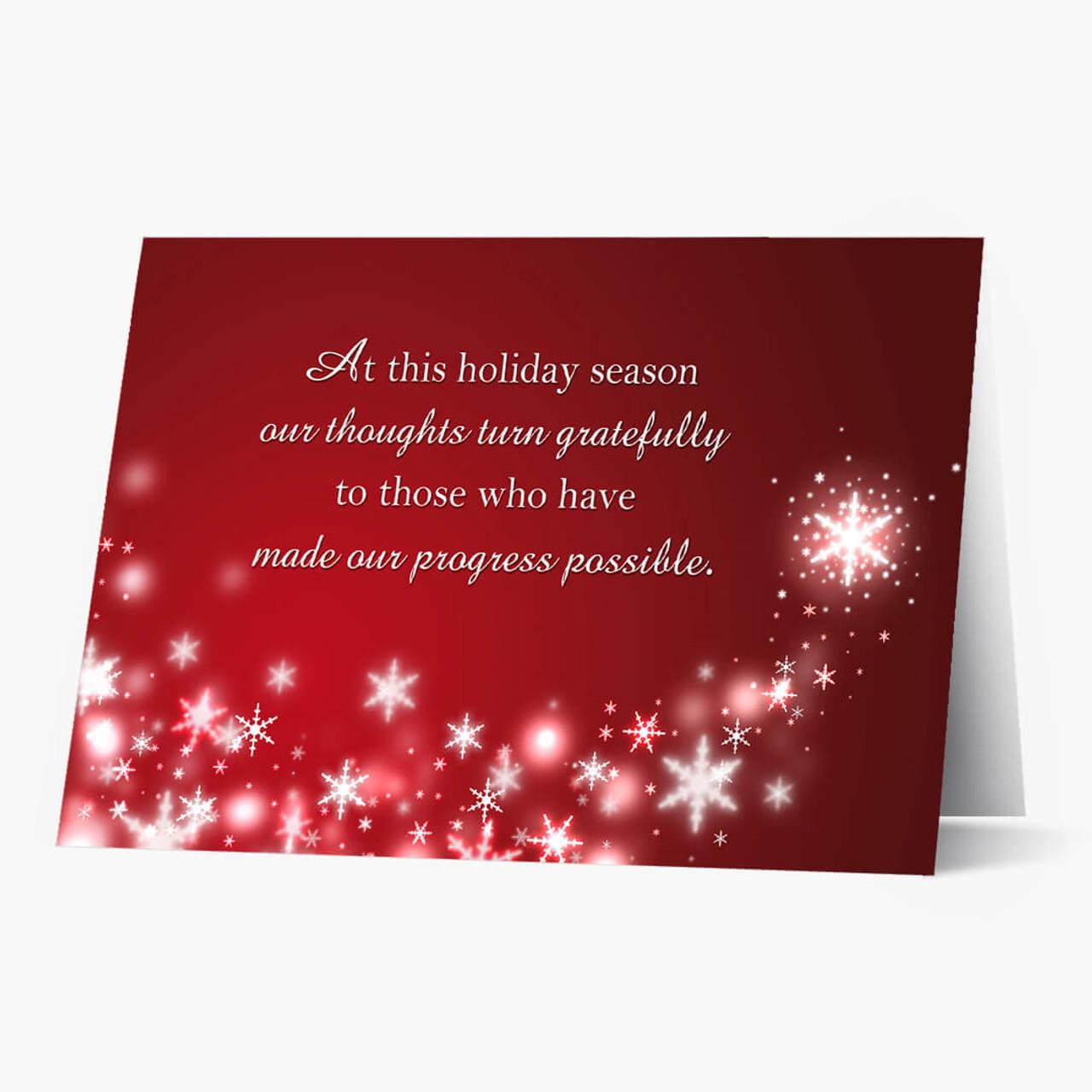 Grateful Business Christmas Card