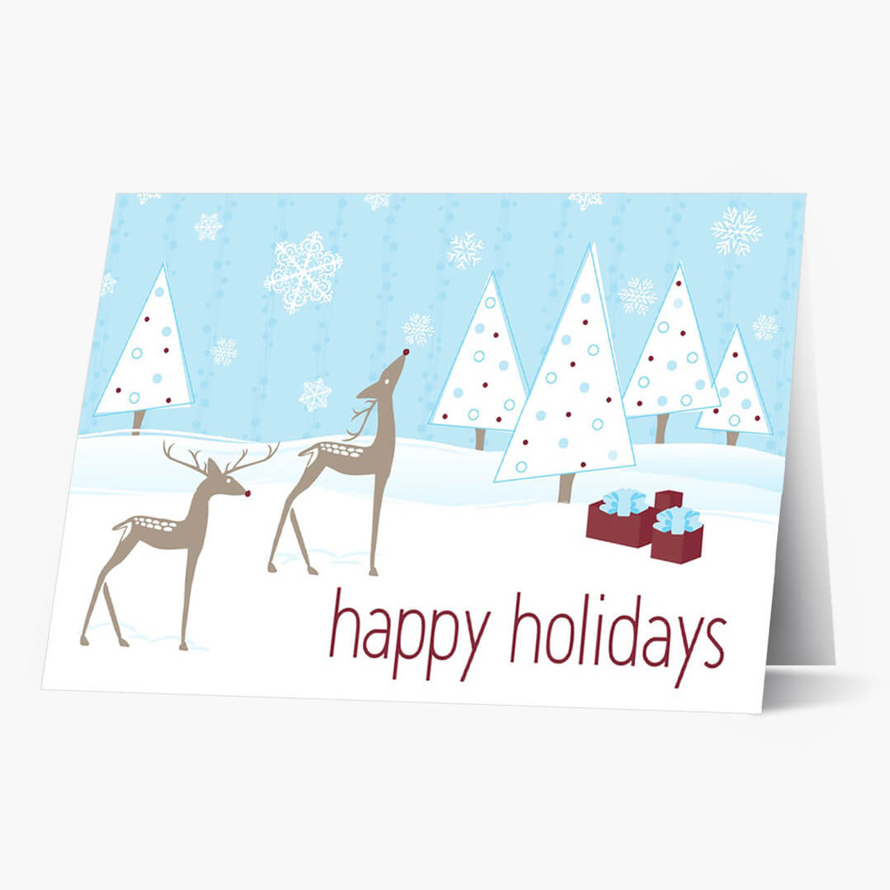 Reindeer Wishes Christmas Card