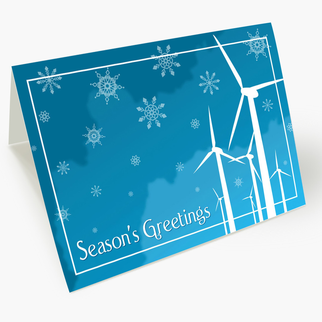 Wind Farm Greetings Christmas Card