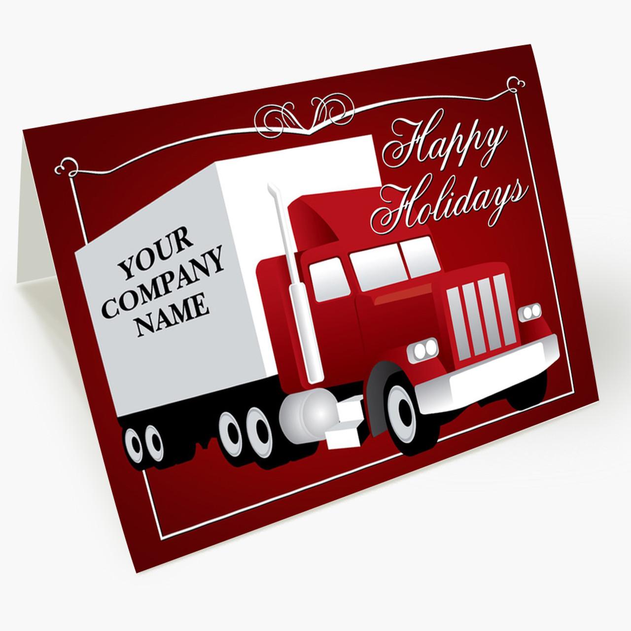 Holiday Trucking Christmas Card