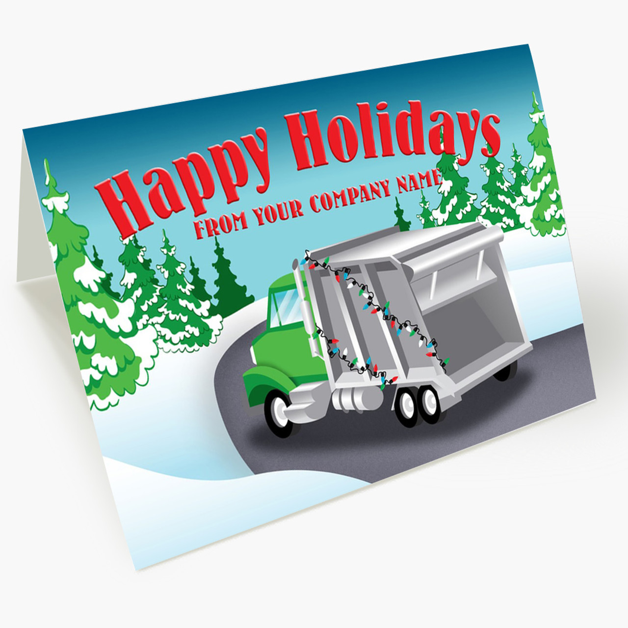 Decorated Truck Christmas Card
