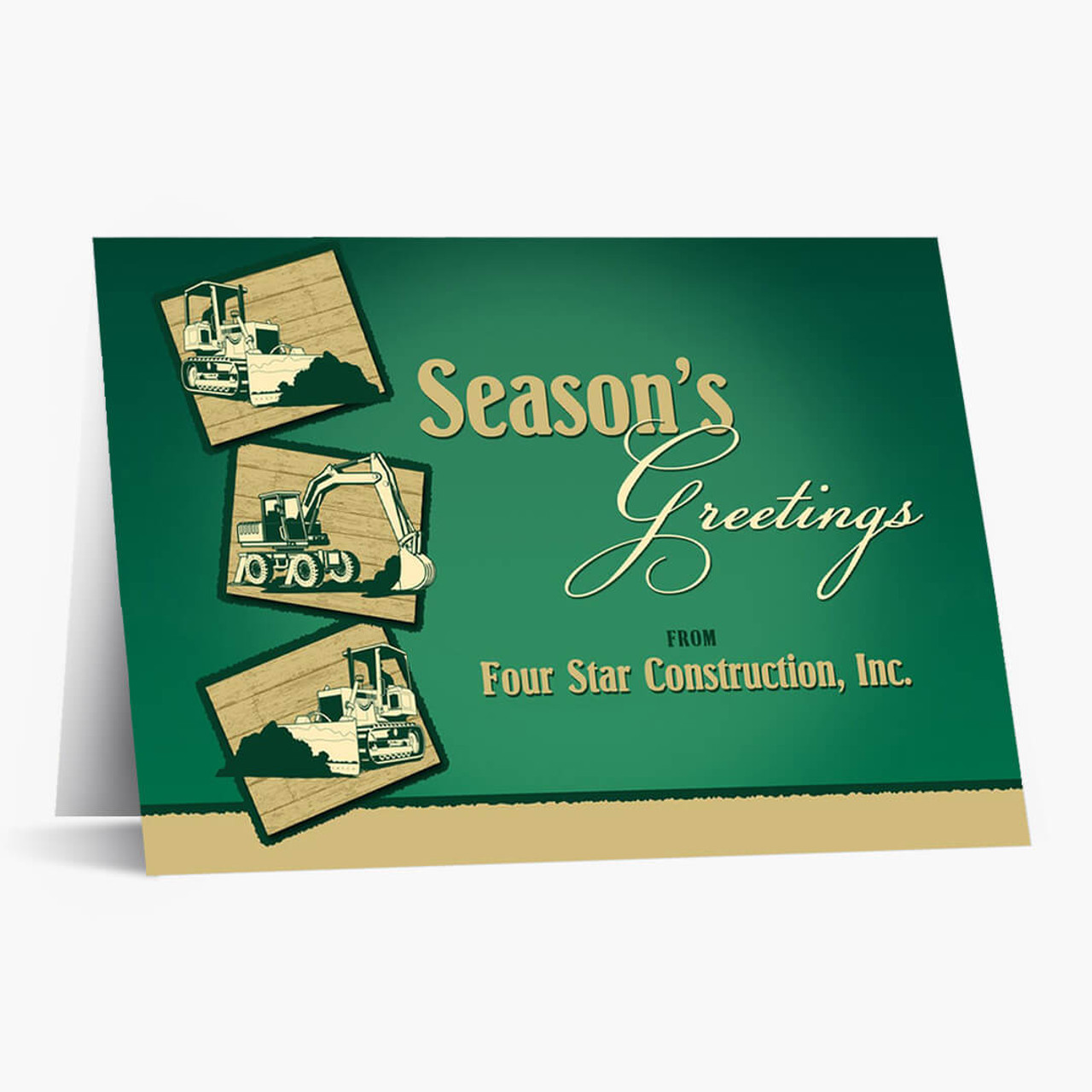 Construction Greetings Christmas Card