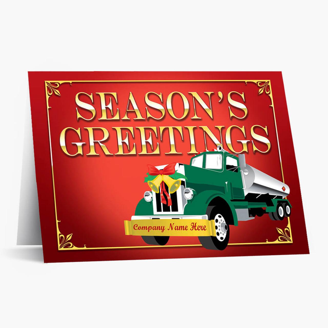 Festive Tanker Truck Christmas Card