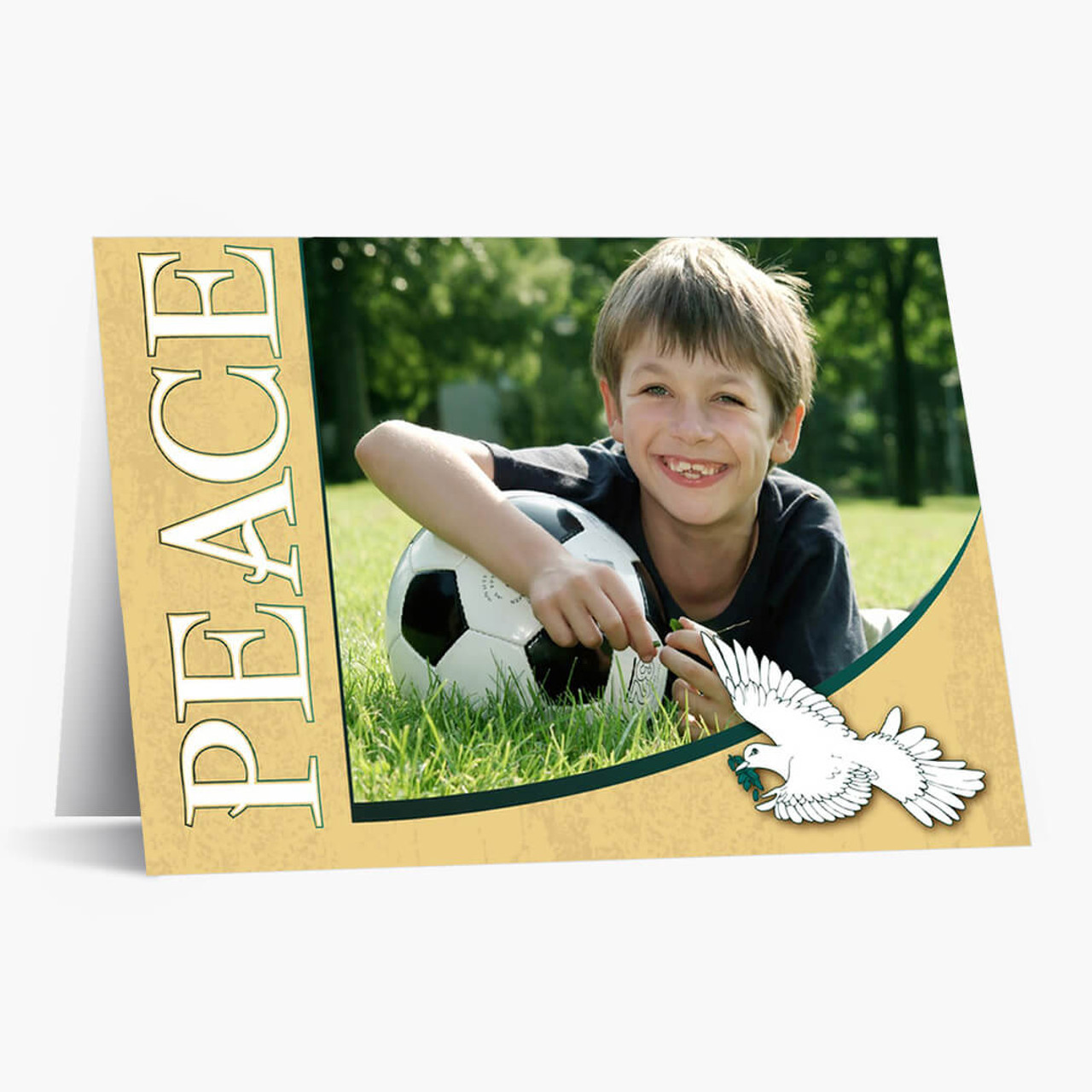 Peace Photo - Matte Finish Christmas Card