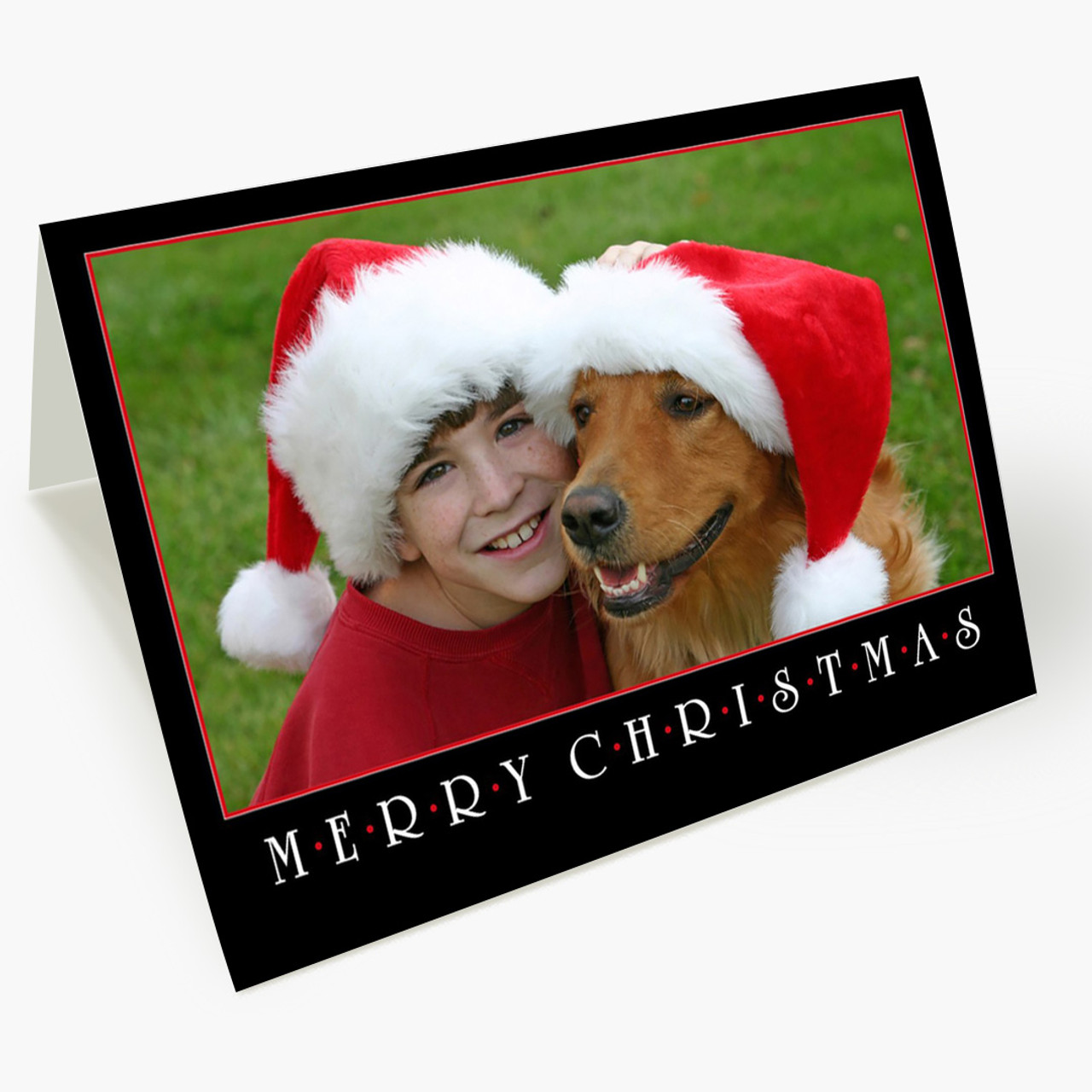 Merry Christmas Photo - Matte Finish Christmas Card