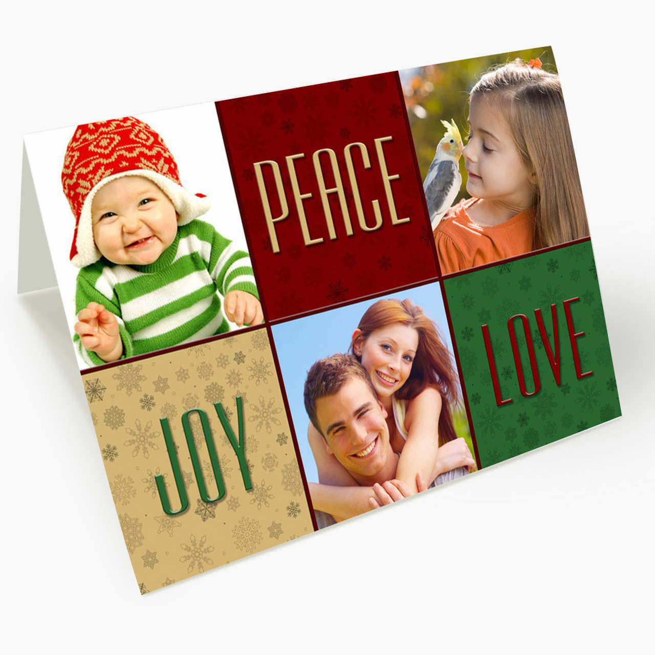 Joy and Peace - Matte Finish Christmas Card