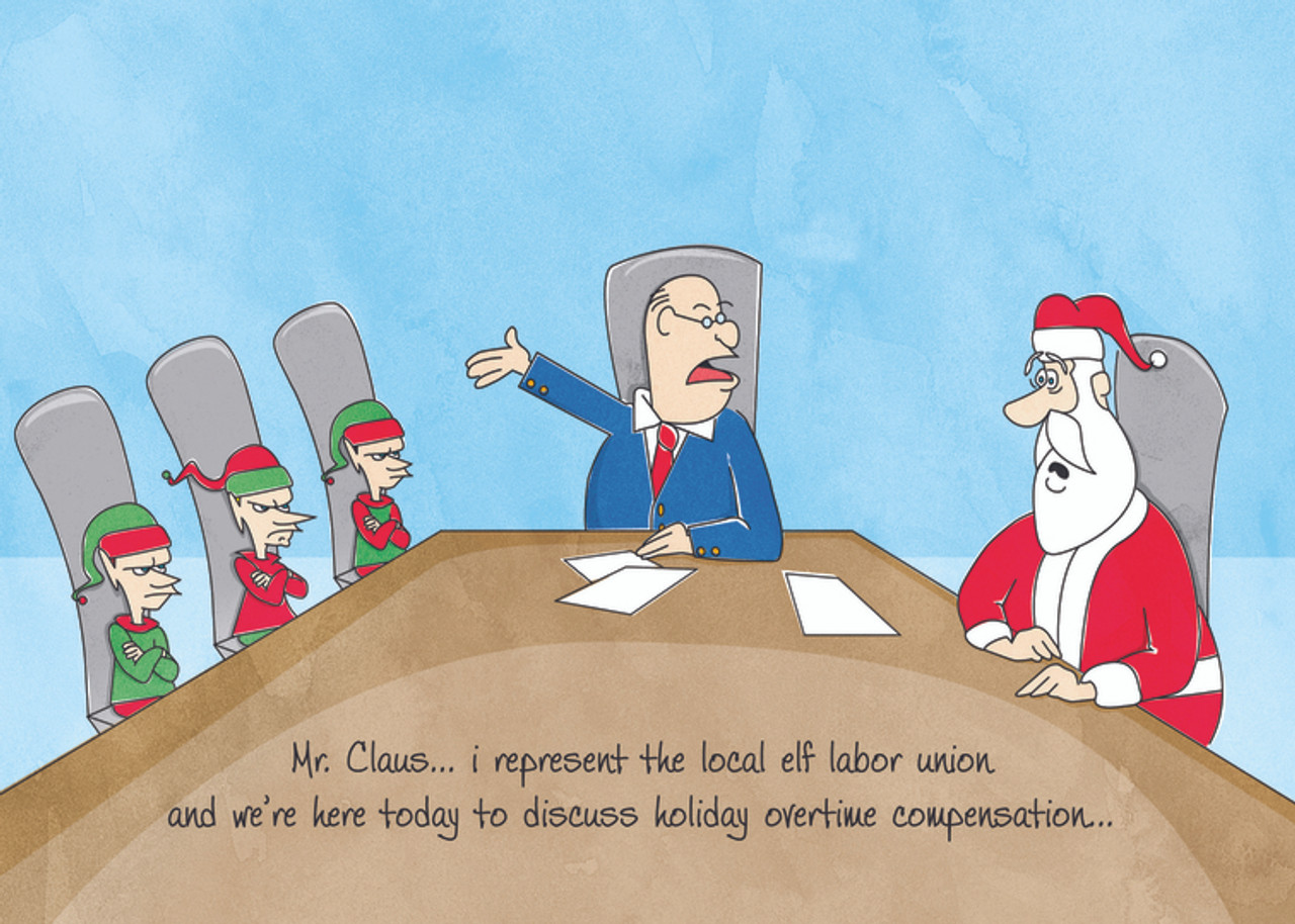 Elf Labor Christmas Card Attorney And Lawyer Christmas Cards