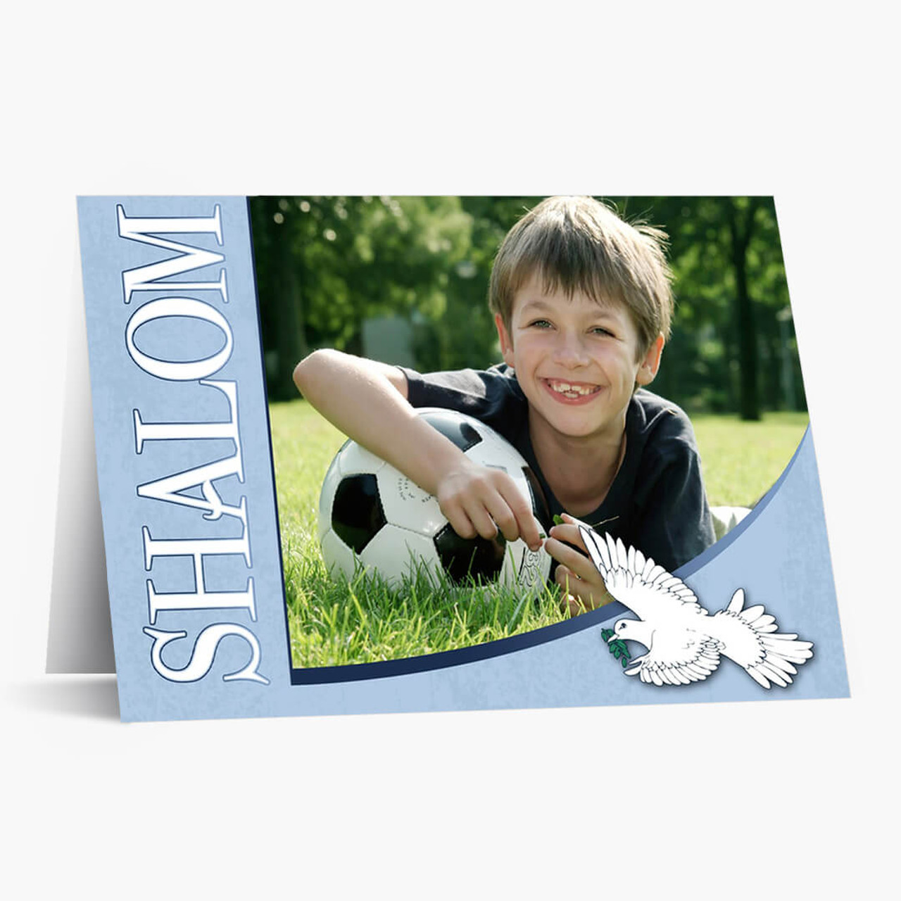 Shalom Photo - Matte Finish Rosh Hashanah Card