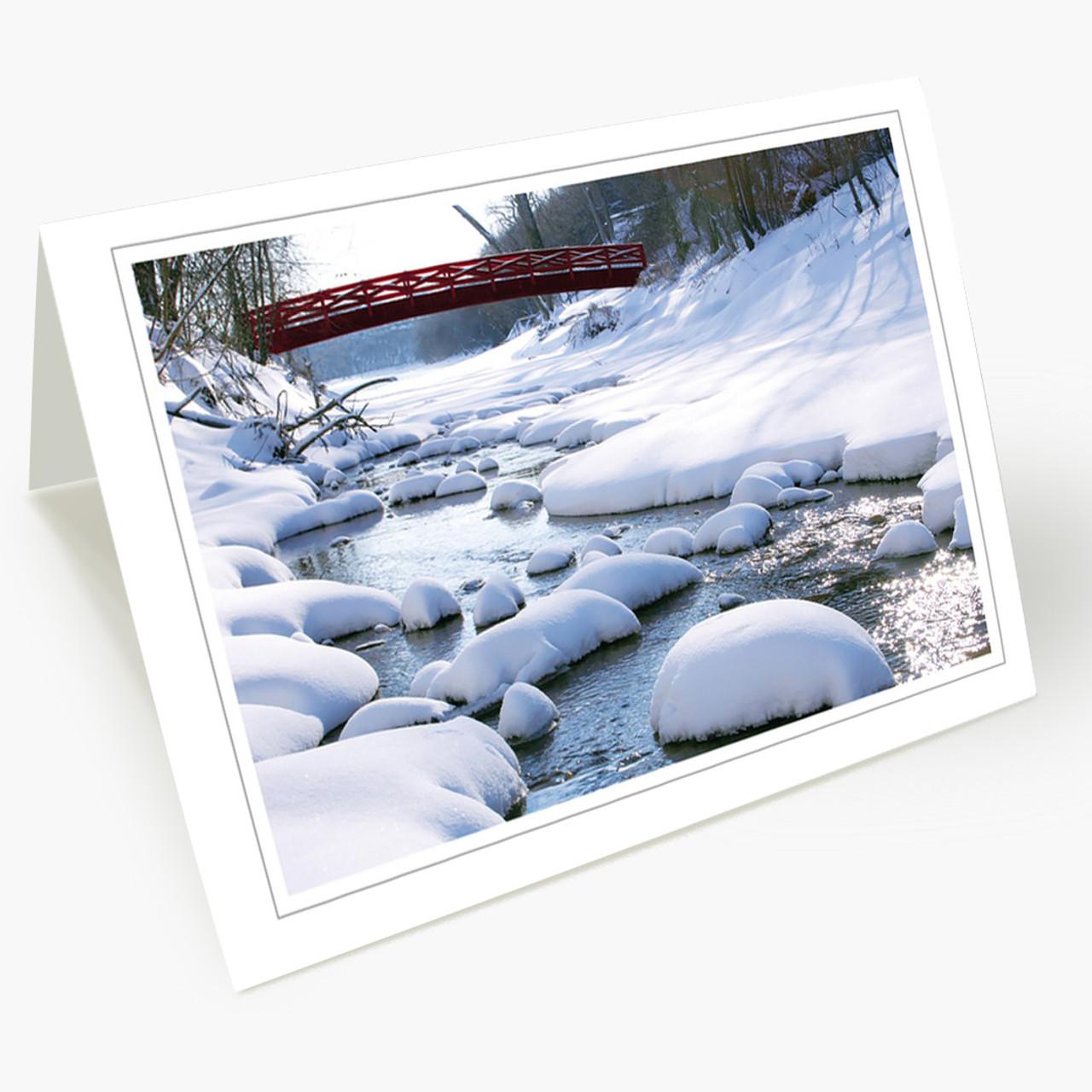 Winter Stream Budget  Christmas Card