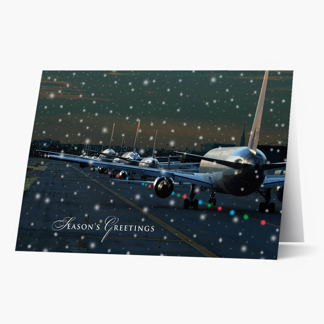 Multiple Planes Christmas Card