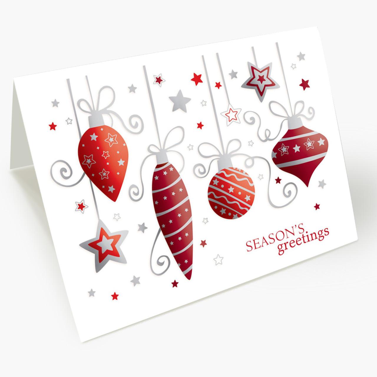 Pretty Ornaments Christmas Card