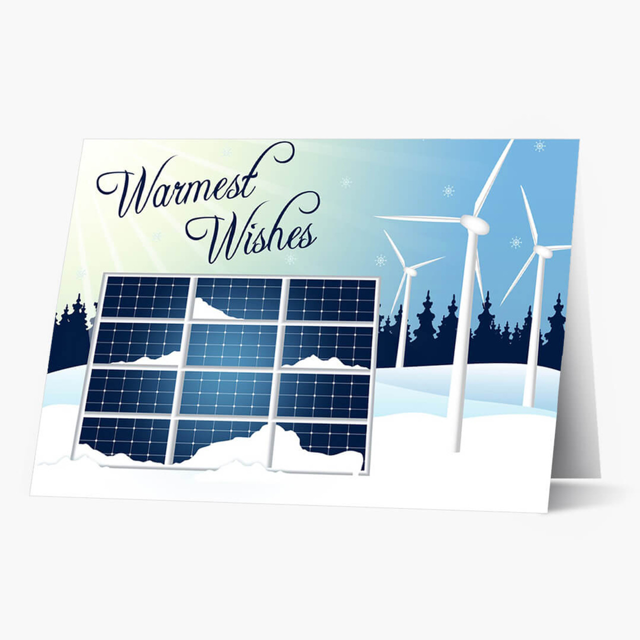 Sun and Wind Holiday Christmas Card