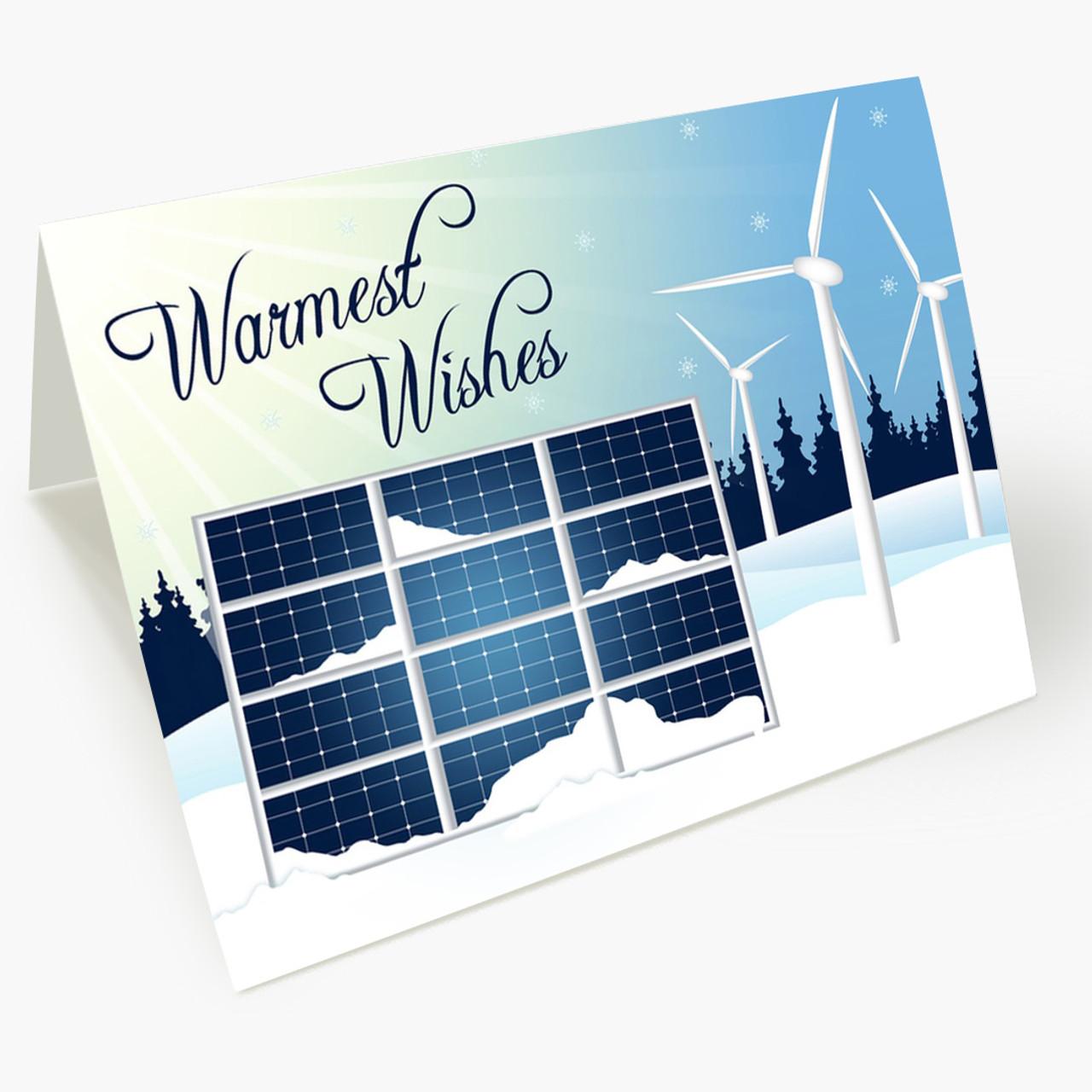 Sun and Wind Holiday Christmas Card