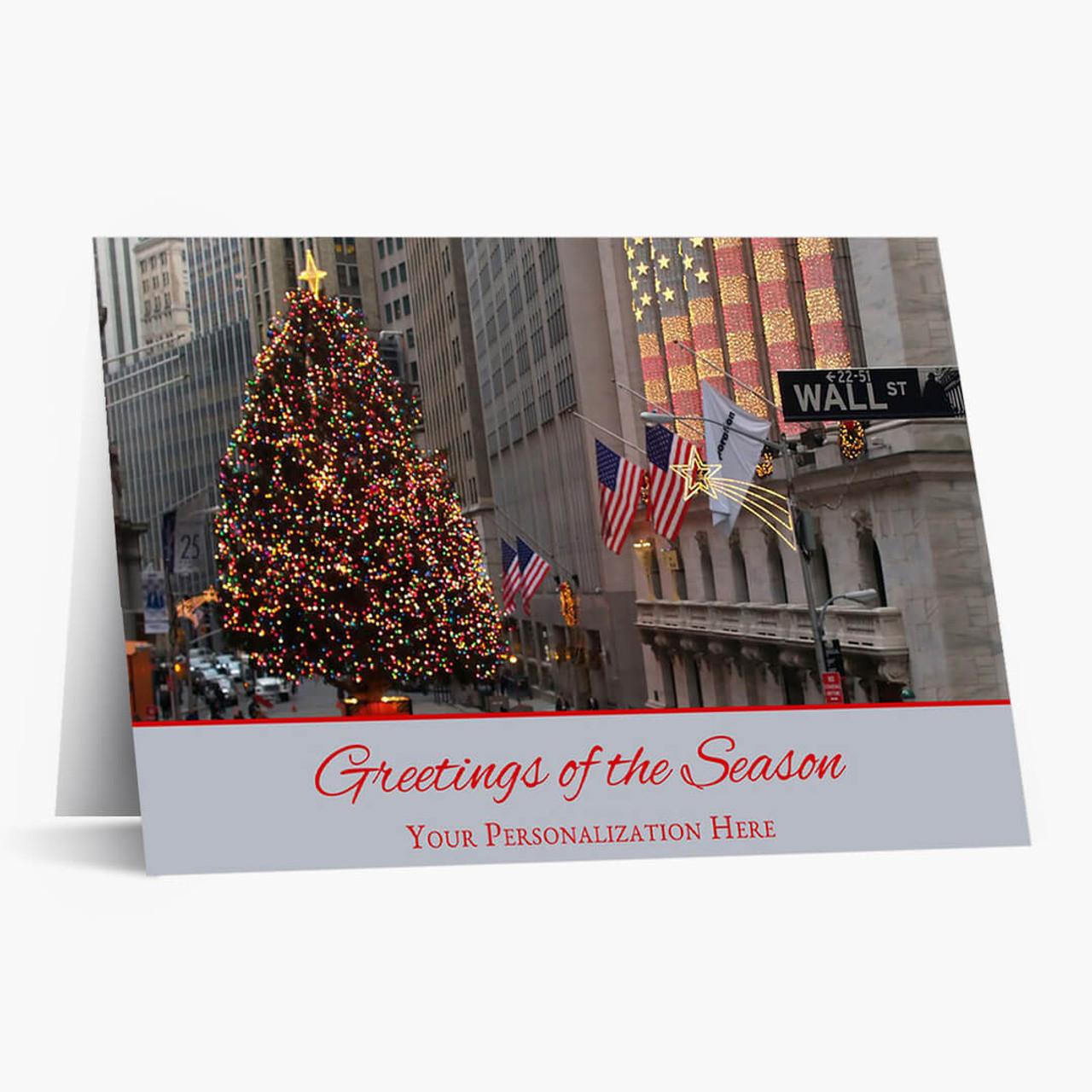 Wall Street Christmas Card