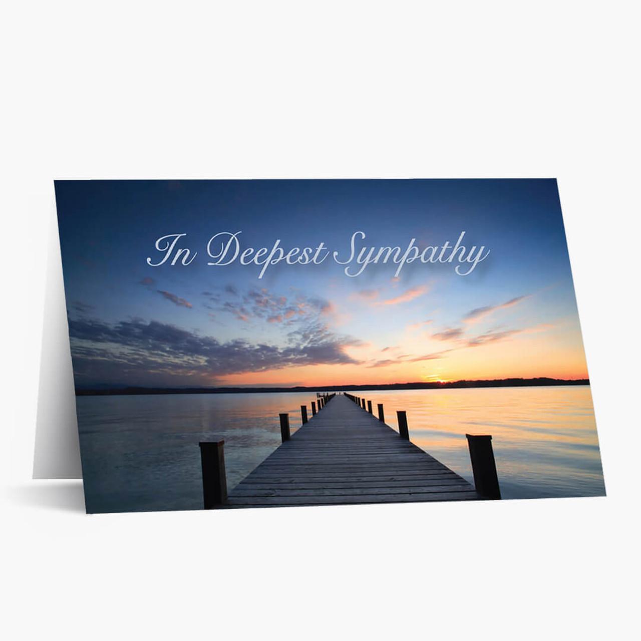 Calming Waters Sympathy Card