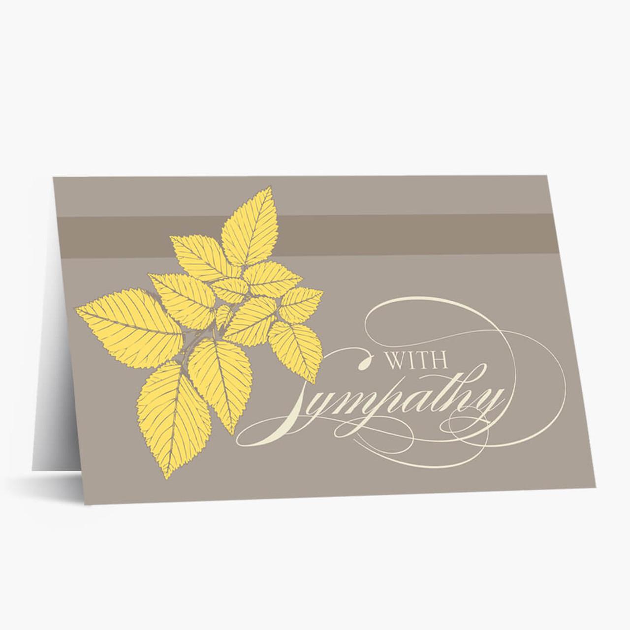 Naturally Caring Sympathy Card