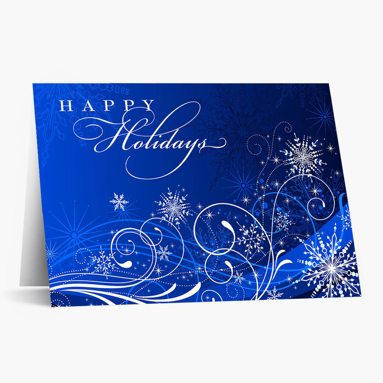 Snowflake Frenzy Christmas Card