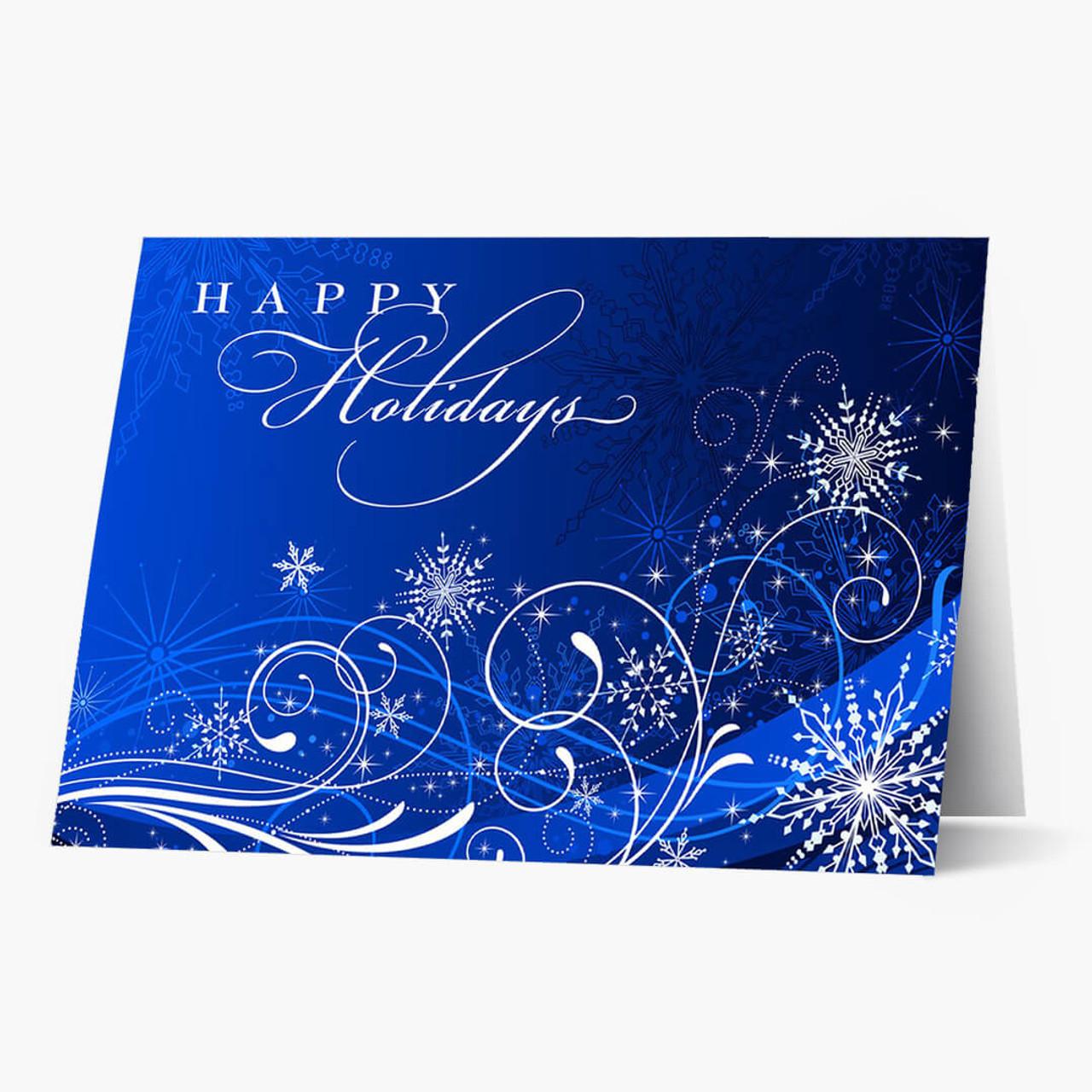 Snowflake Frenzy Christmas Card