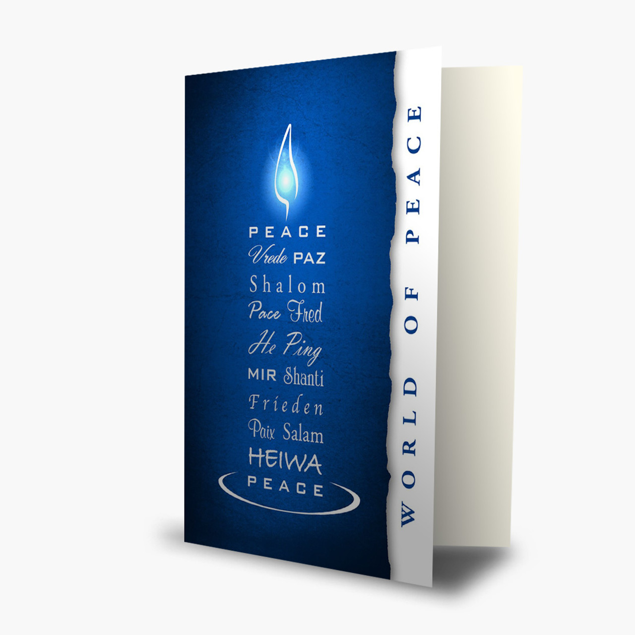 Bright World Of Peace Christmas Card
