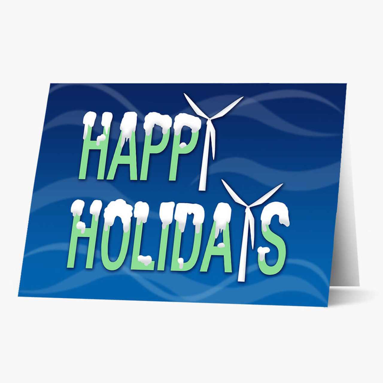 Holiday Turbine Christmas Card