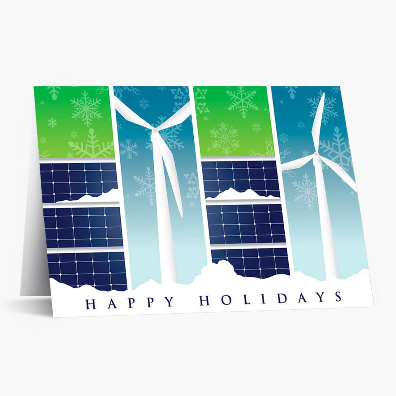 Renewable Energy Greetings Christmas Card