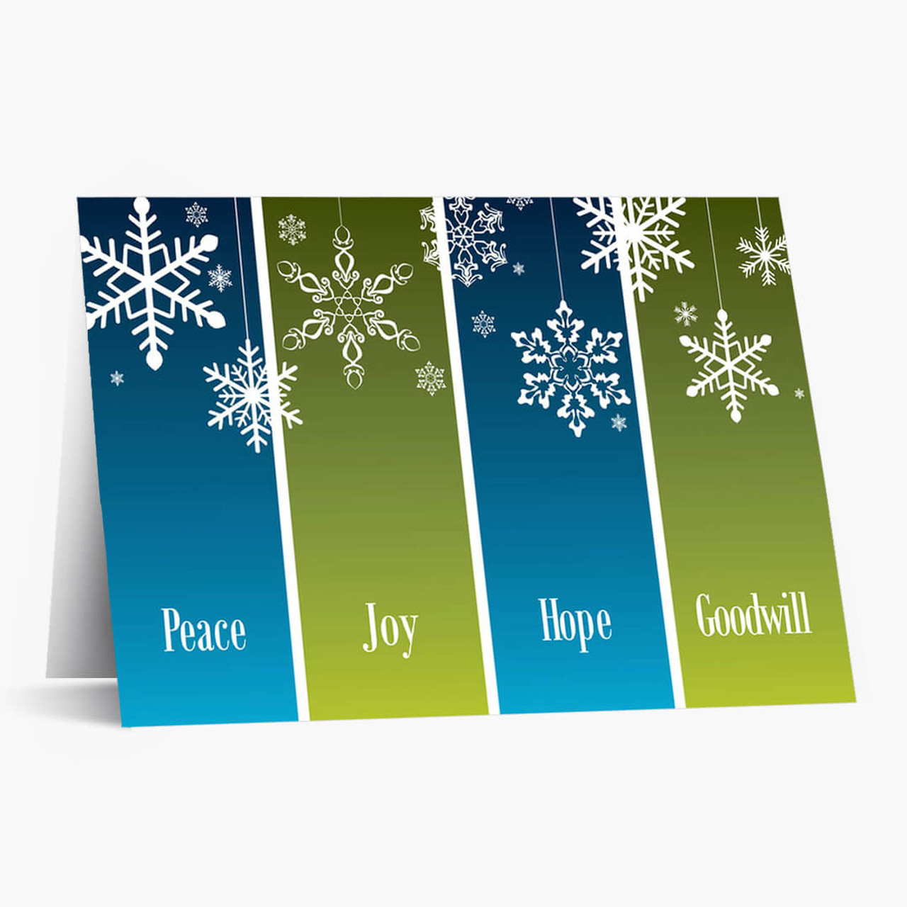 Snowflake Panels Christmas Card