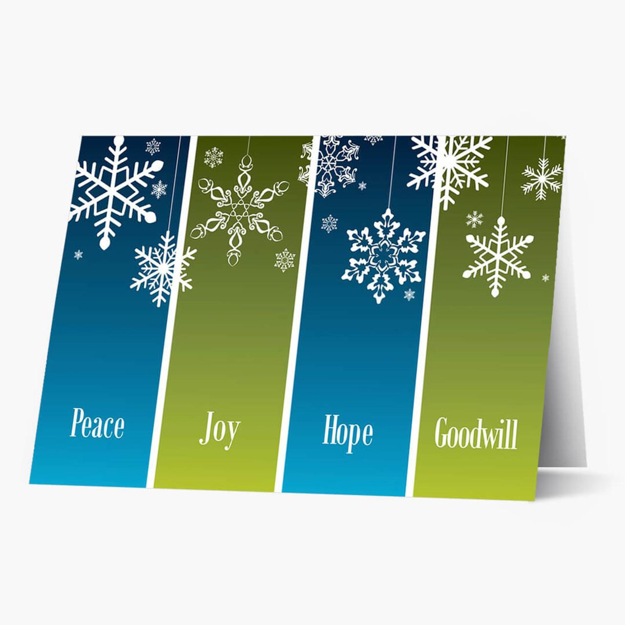 Snowflake Panels Christmas Card