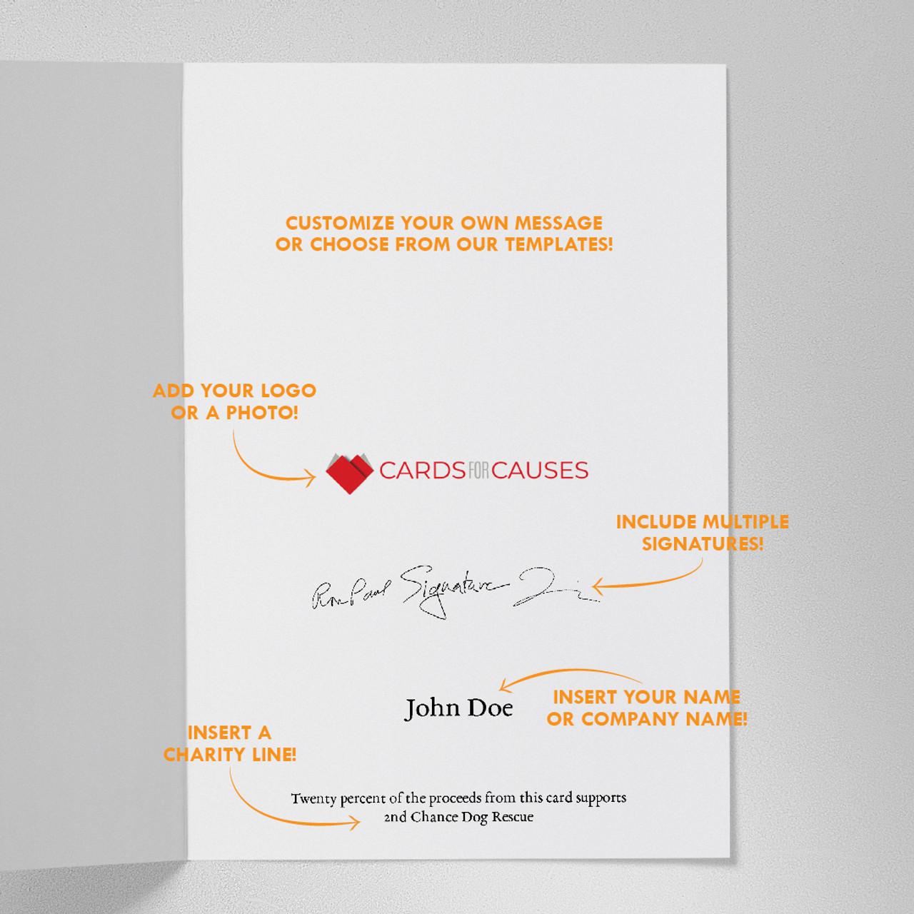 Candlelit Greetings Christmas Card