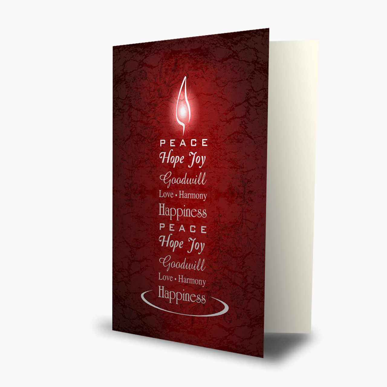 Candlelit Greetings Christmas Card