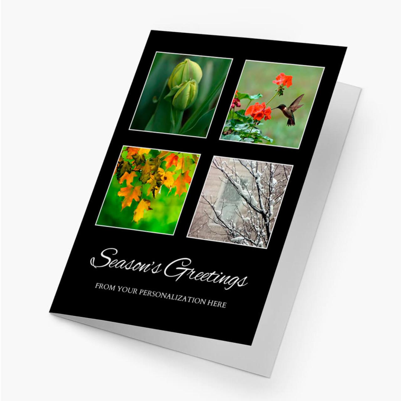 Four Seasons Holiday Christmas Card