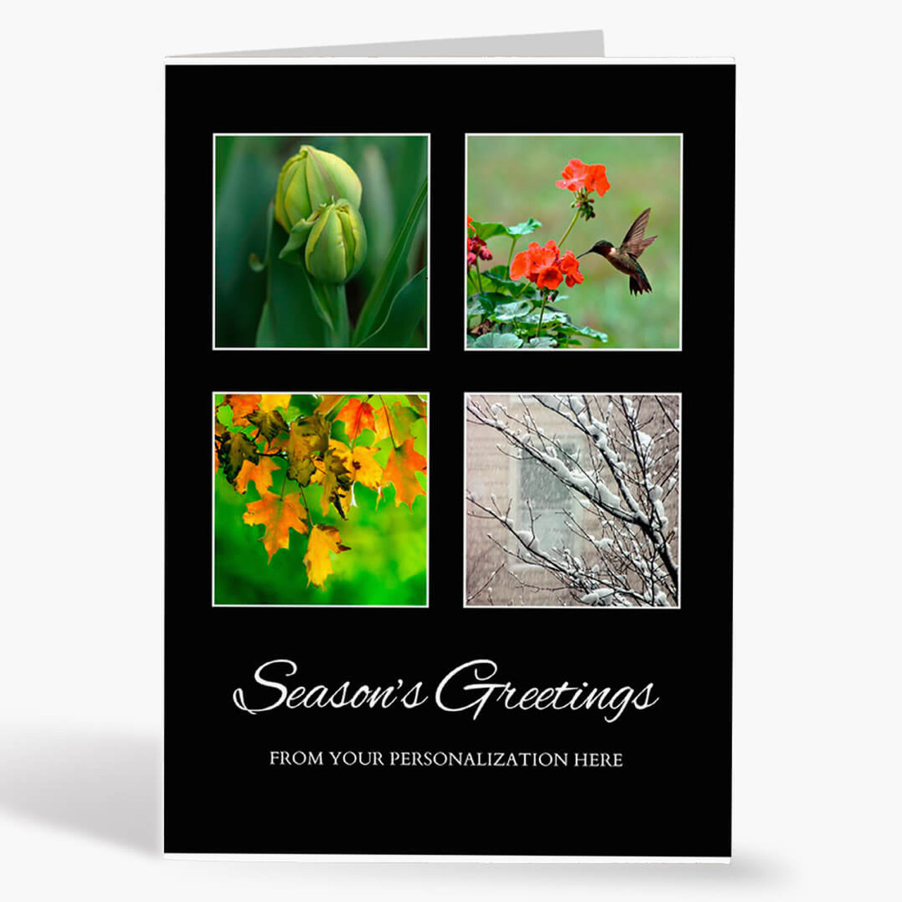 Four Seasons Holiday Christmas Card