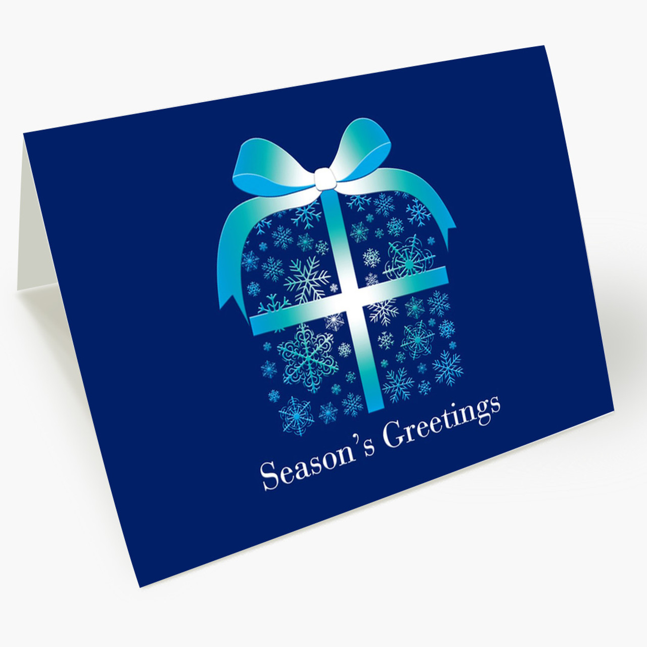 Snowflake Package Christmas Card