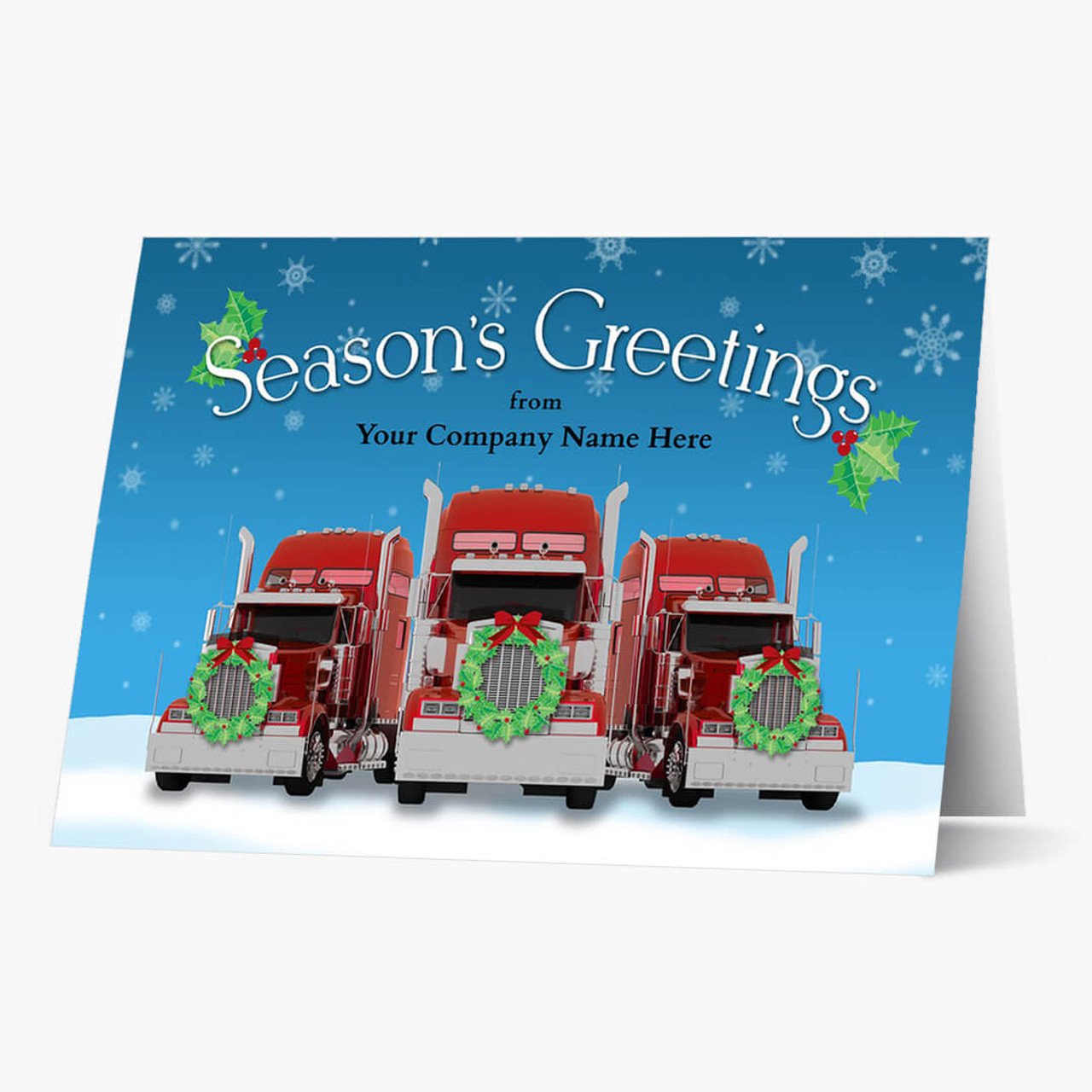 Dressed Up Trucks Christmas Card