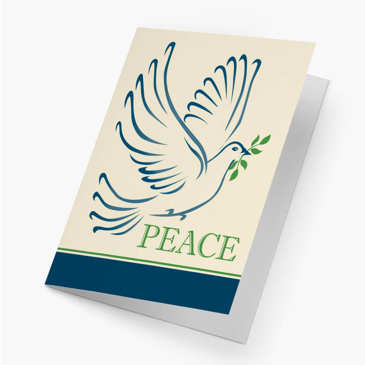 Peaceful Greeting Christmas Card