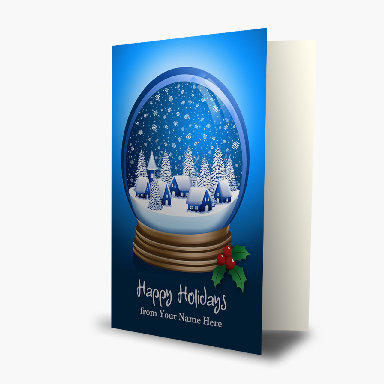 Winter Snow Globe Christmas Card