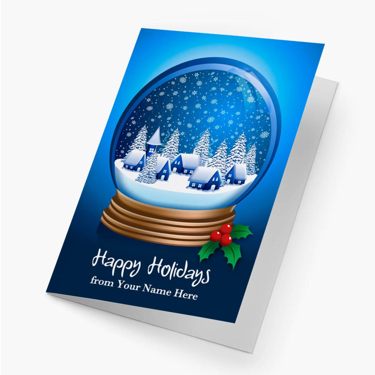 Winter Snow Globe Christmas Card