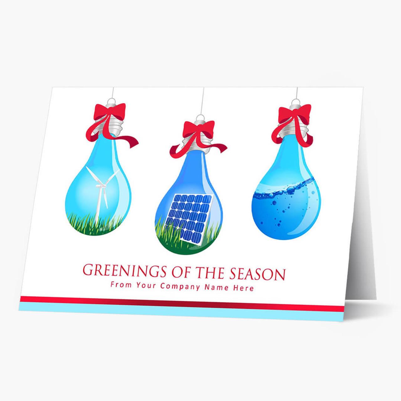 Green Energy Holiday Christmas Card