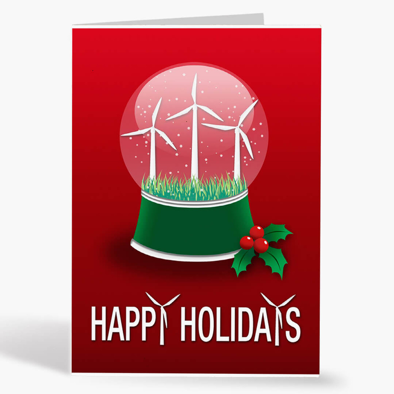Turbine Snow Globe Christmas Card