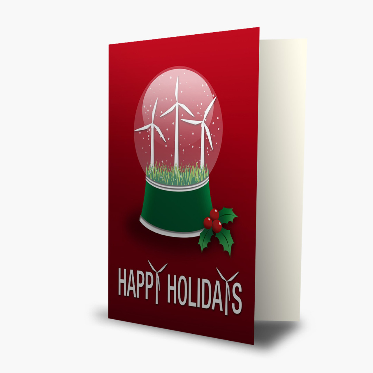 Turbine Snow Globe Christmas Card