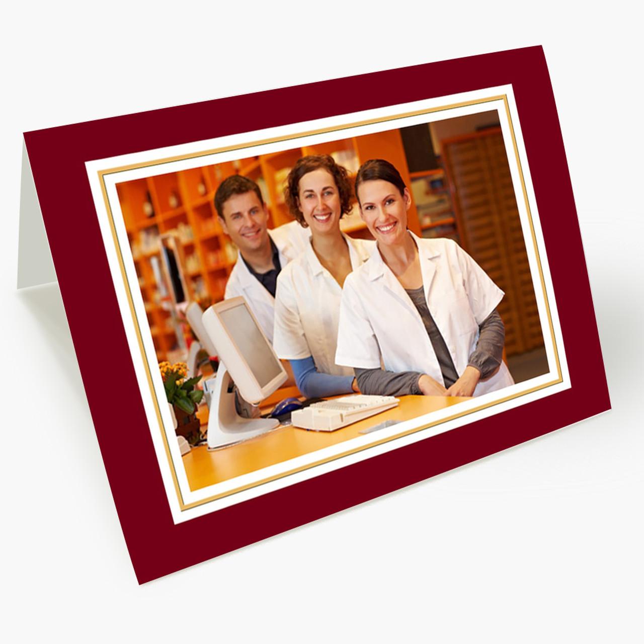 Classic Photo Horizontal - Matte Christmas Card