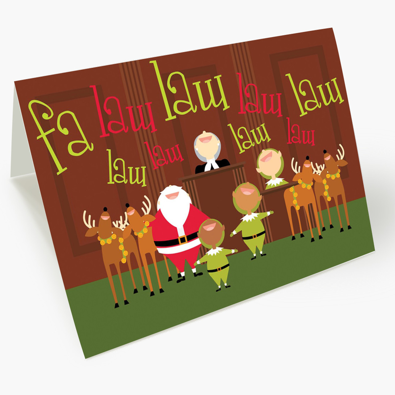 Caroling Christmas Card
