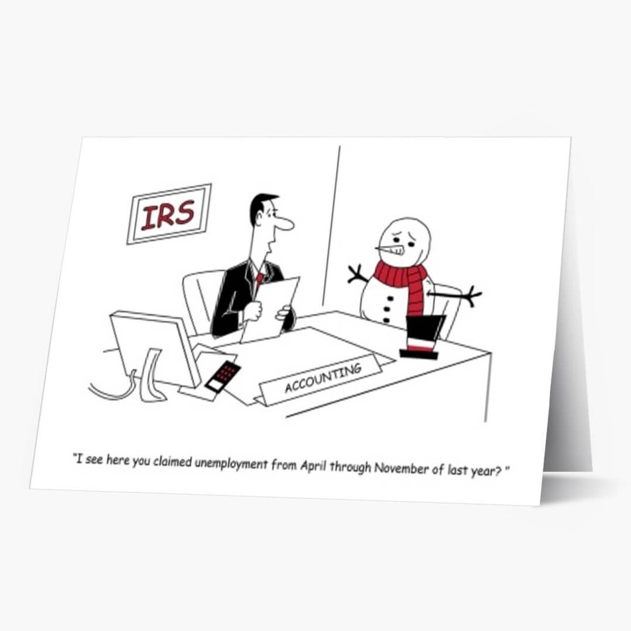 Accounting Claims Christmas Card