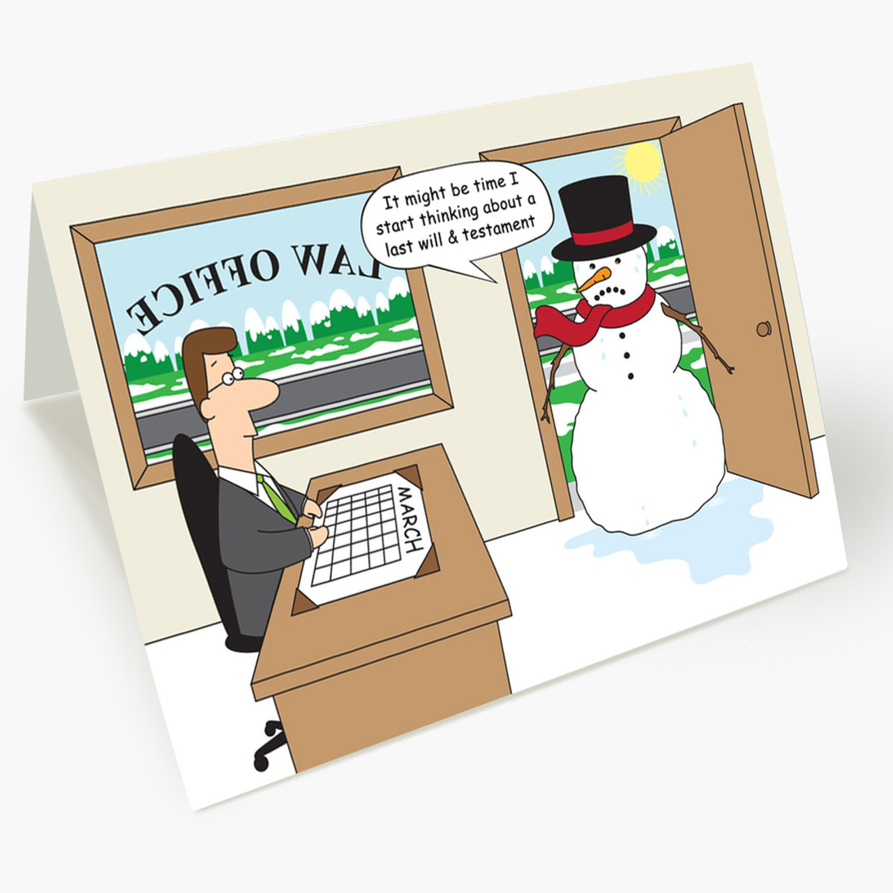 Law Office Snowman Christmas Card