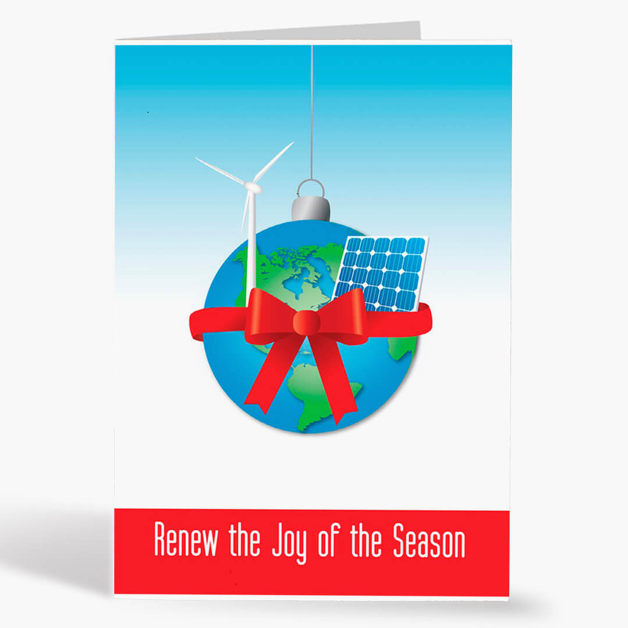 Alternative Energy Wishes Christmas Card