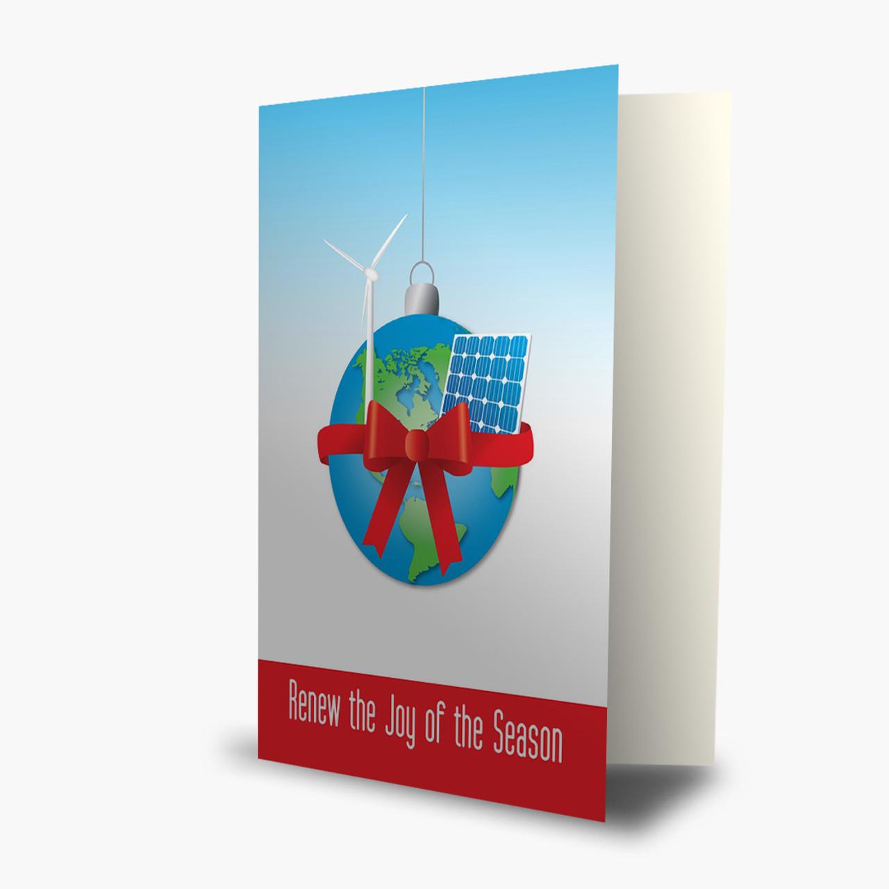 Alternative Energy Wishes Christmas Card