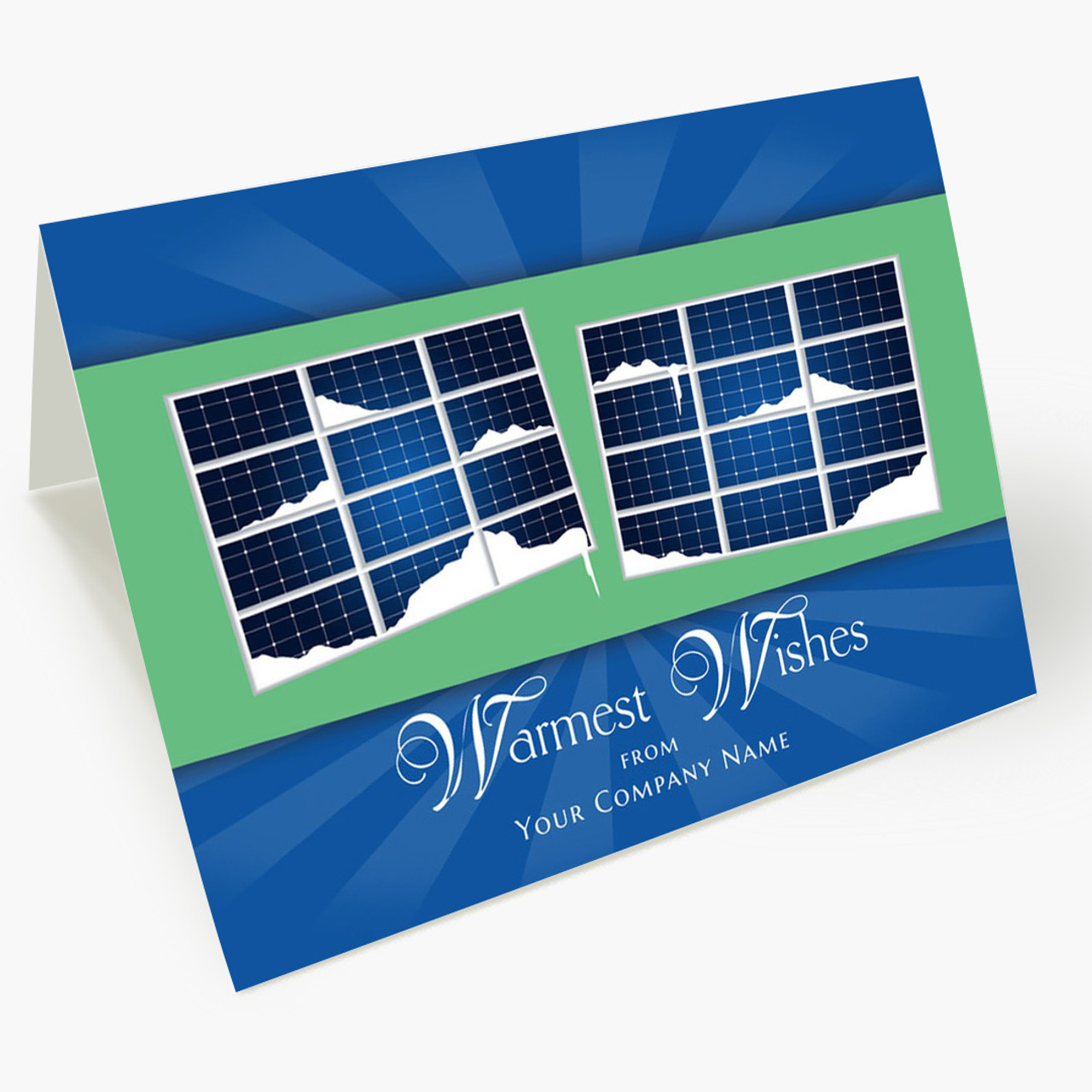 Solar Warm Wishes Christmas Card