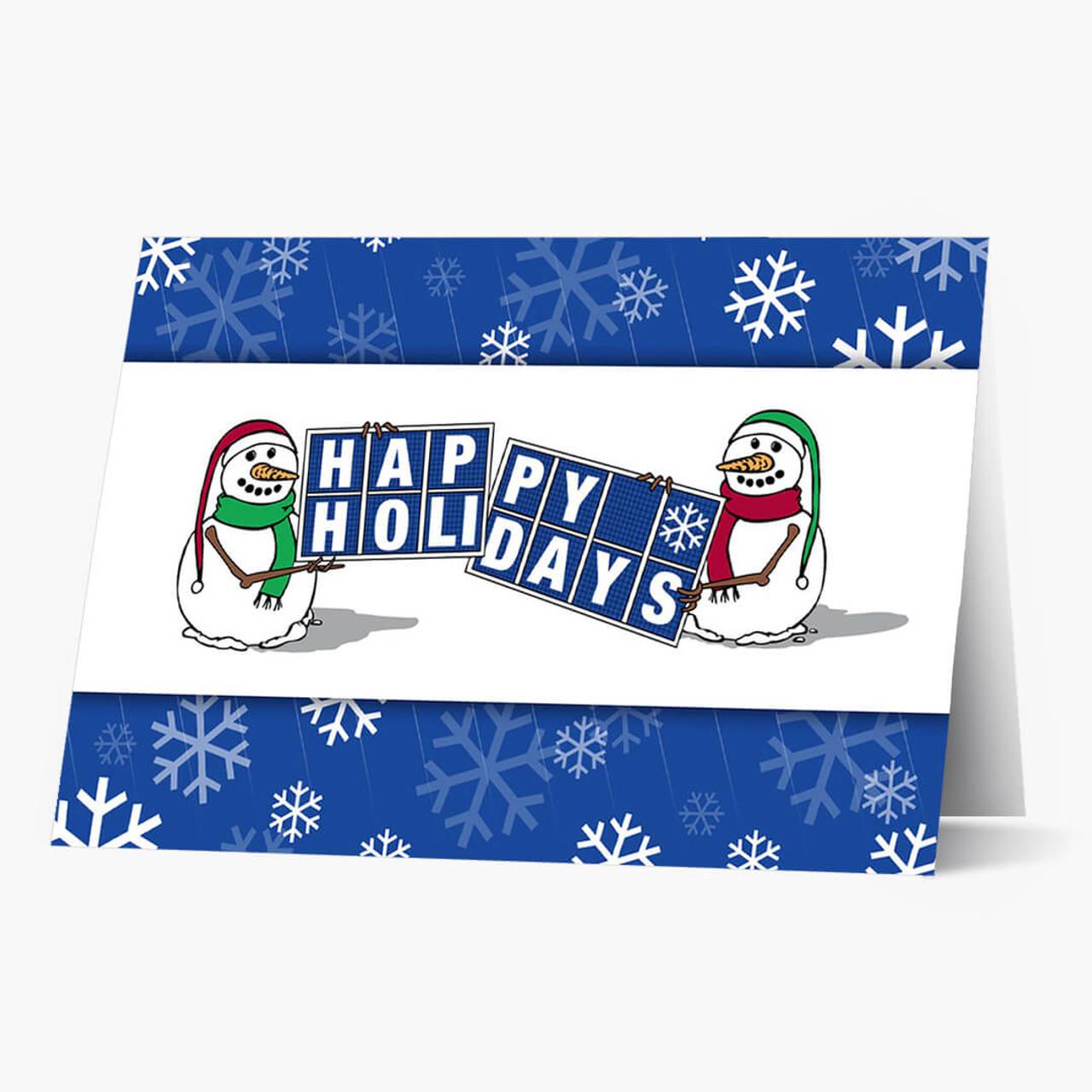 Solar Panel Greetings Christmas Card