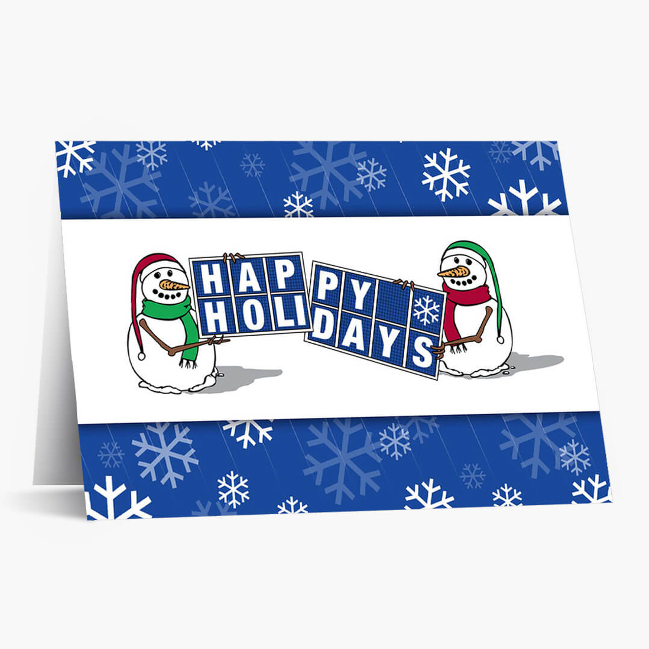 Solar Panel Greetings Christmas Card