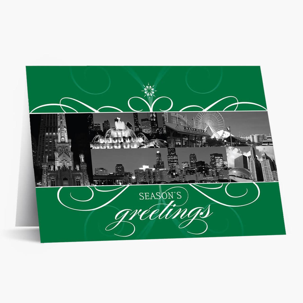 Chicago Flourish Christmas Card